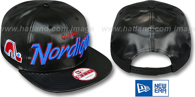 Nordiques 'REDUX SNAPBACK' Black Hat by New Era : pictured without stickers that these products are shipped with