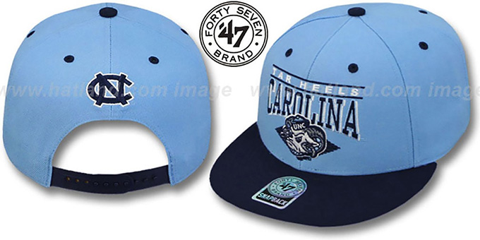 North Carolina '2T HOLDEN SNAPBACK' Adjustable Hat by Twins 47 Brand : pictured without stickers that these products are shipped with