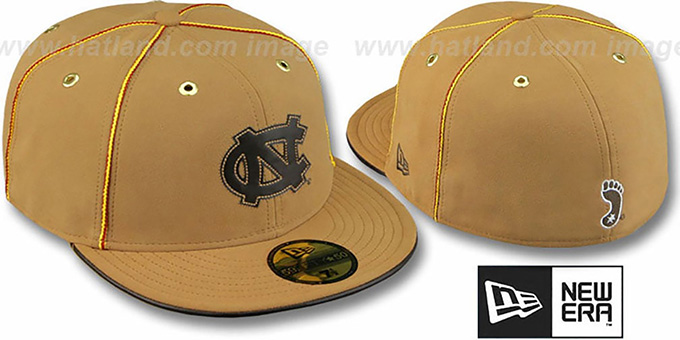 North Carolina 'DaBu' Fitted Hat by New Era : pictured without stickers that these products are shipped with