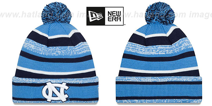 North Carolina 'NCAA-STADIUM' Knit Beanie Hat by New Era : pictured without stickers that these products are shipped with