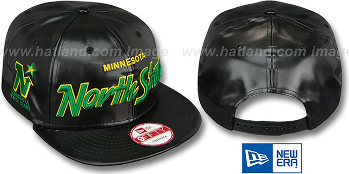 North Stars 'REDUX SNAPBACK' Black Hat by New Era : pictured without stickers that these products are shipped with