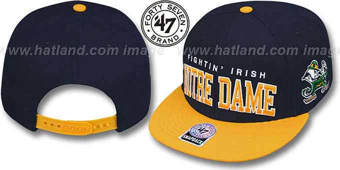 Notre Dame  2T BLOCKSHED SNAPBACK  Adjustable Hat by Twins ... aa6ad52e5a2