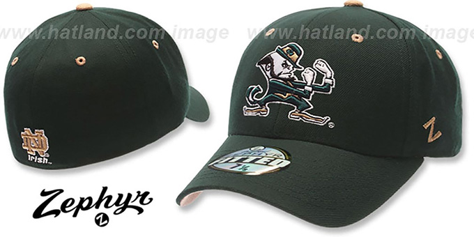 Notre Dame  DHS  Fitted Hat by ZEPHYR - green d423be920a9