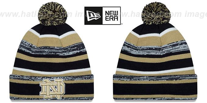 Notre Dame NCAA-STADIUM Knit Beanie Hat by New Era bbfedfb4781