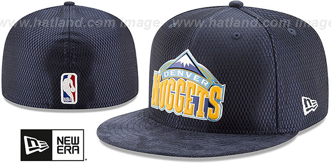 Nuggets '2017 ONCOURT DRAFT' Navy Fitted Hat by New Era