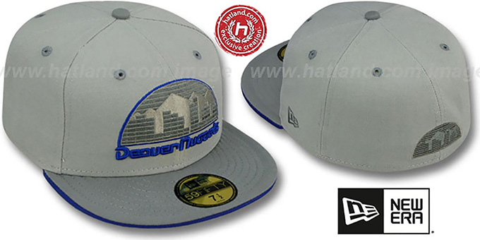Nuggets '2T HWC GREY-POP' Fitted Hat by New Era : pictured without stickers that these products are shipped with