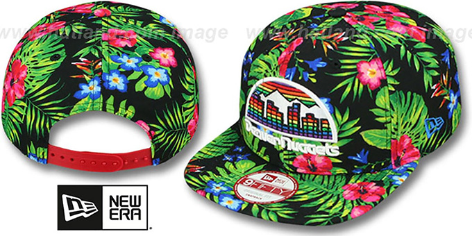 Nuggets 'BLOOM SNAPBACK' Hat by New Era : pictured without stickers that these products are shipped with