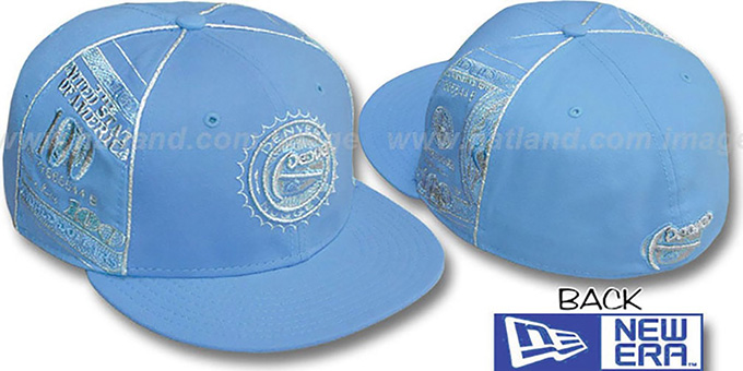Nuggets 'C-NOTE' Columbia-Silver Fitted Hat by New Era : pictured without stickers that these products are shipped with