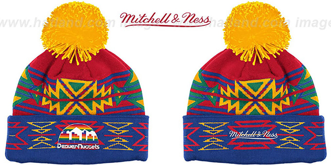 Nuggets 'GEOTECH' Knit Beanie by Mitchell and Ness : pictured without stickers that these products are shipped with