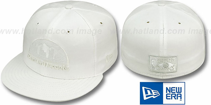 Nuggets 'HARDWOOD FADEOUT' White Fitted Hat by New Era : pictured without stickers that these products are shipped with