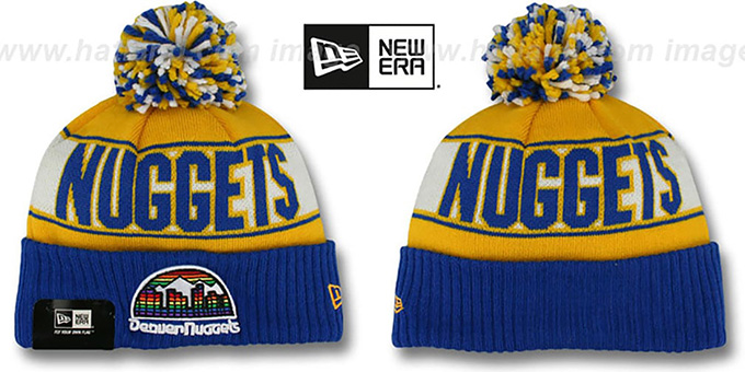 Nuggets HWC 'REP-UR-TEAM' Knit Beanie Hat by New Era : pictured without stickers that these products are shipped with
