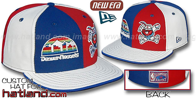 Nuggets 'HWDW-CITY-MINER' Royal-Red-White Fitted Hat : pictured without stickers that these products are shipped with