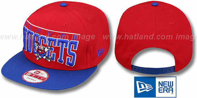 Nuggets 'LE-ARCH SNAPBACK' Red-Royal Hat by New Era : pictured without stickers that these products are shipped with