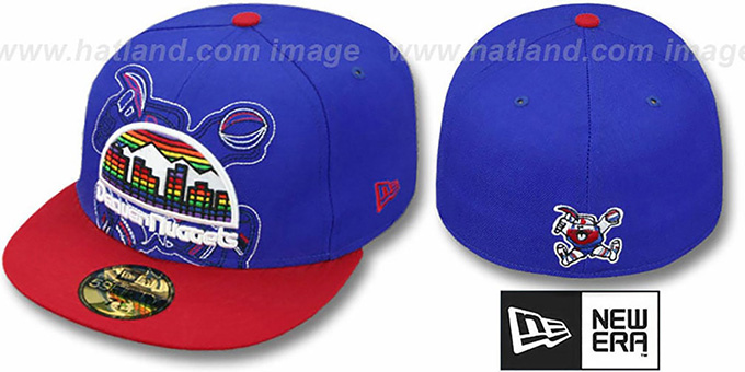 Nuggets 'NEW MIXIN' Royal-Red Fitted Hat by New Era : pictured without stickers that these products are shipped with