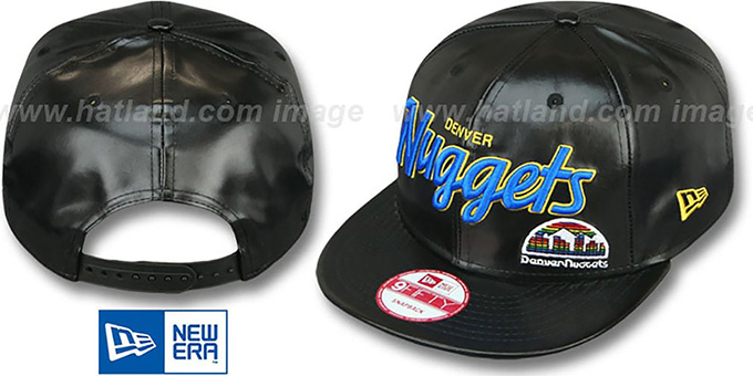 Nuggets 'REDUX SNAPBACK' Black Hat by New Era : pictured without stickers that these products are shipped with