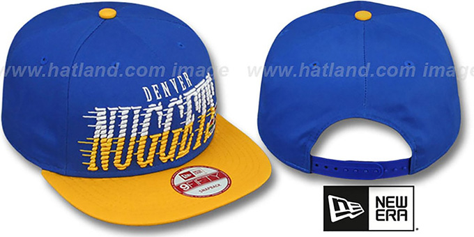 Nuggets 'SAILTIP SNAPBACK' Royal-Gold Hat by New Era : pictured without stickers that these products are shipped with