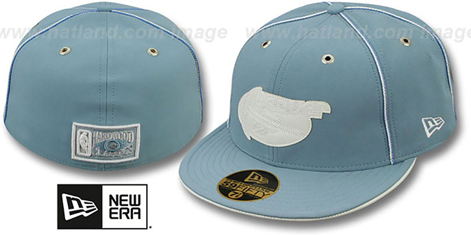 Nuggets 'SKY BLUE DaBu' Fitted Hat by New Era : pictured without stickers that these products are shipped with