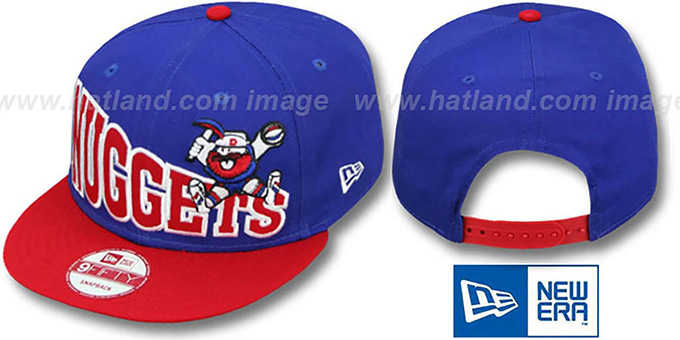 Nuggets 'STOKED SNAPBACK' Royal-Red Hat by New Era : pictured without stickers that these products are shipped with