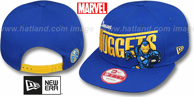 Nuggets 'TEAM-HERO SNAPBACK' Royal Hat by New Era : pictured without stickers that these products are shipped with