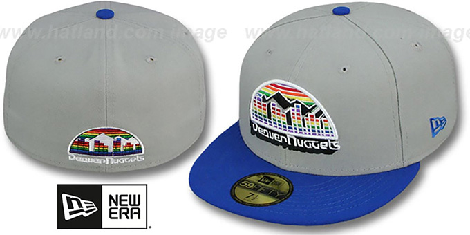 Nuggets 'TRACE-POP' Grey-Royal Fitted Hat by New Era : pictured without stickers that these products are shipped with