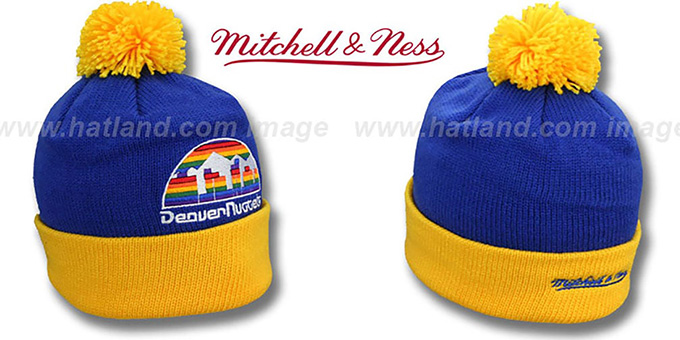 fd7b508656e Denver Nuggets XL-LOGO BEANIE Royal by Mitchell and Ness