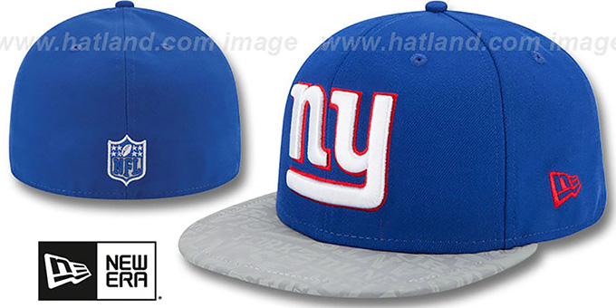 New York NY Giants 2014 NFL DRAFT Royal Fitted Hat 18811a9b9f9