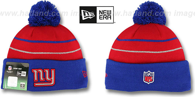 NY Giants 'THANKSGIVING DAY' Knit Beanie Hat by New Era : pictured without stickers that these products are shipped with