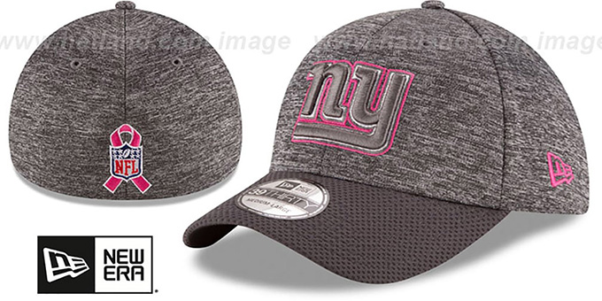 NY Giants '2016 BCA FLEX' Grey-Grey Hat by New Era : pictured without stickers that these products are shipped with