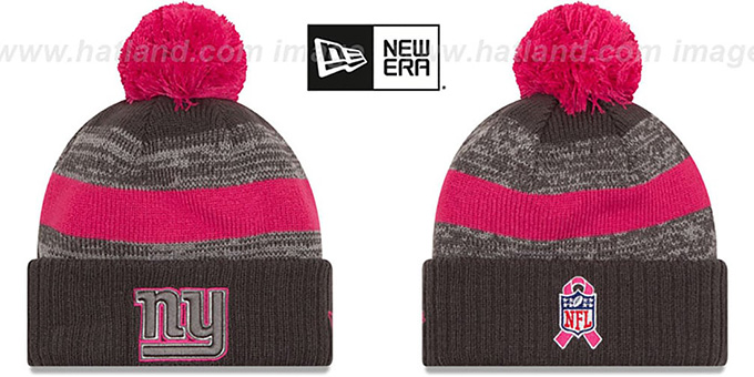 NY Giants '2016 BCA STADIUM' Knit Beanie Hat by New Era : pictured without stickers that these products are shipped with