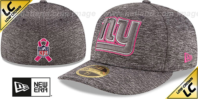 NY Giants '2016 LOW-CROWN BCA' Grey Fitted Hat by New Era : pictured without stickers that these products are shipped with