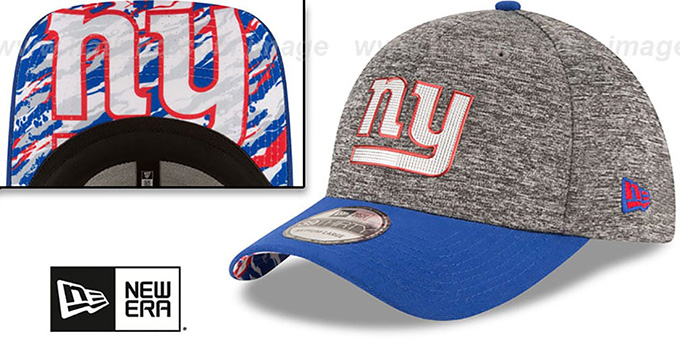 NY Giants '2016 NFL DRAFT FLEX' Hat by New Era : pictured without stickers that these products are shipped with