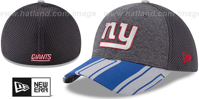 NY Giants '2017 NFL ONSTAGE FLEX' Charcoal Hat by New Era
