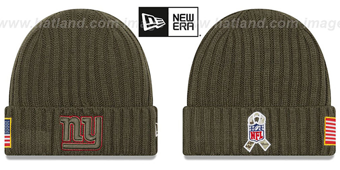 be2f4c8780a New York NY Giants 2017 SALUTE-TO-SERVICE Knit Beanie Hat