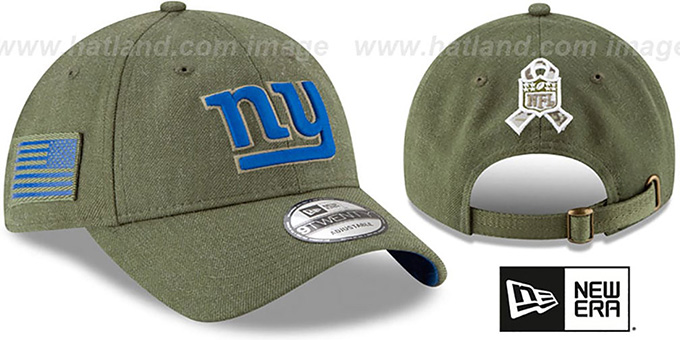 dab36d337be ... New Era. video available. NY Giants  2018 SALUTE-TO-SERVICE STRAPBACK   Olive Hat by ...