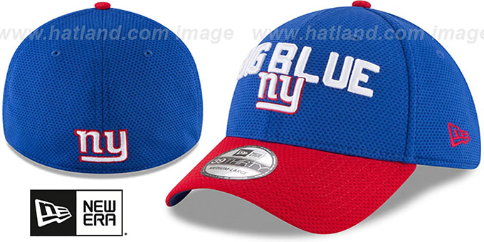 NY Giants '2018 SPOTLIGHT FLEX' Royal-Red Hat by New Era : pictured without stickers that these products are shipped with