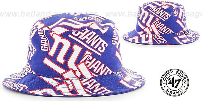 New York NY Giants BRAVADO BUCKET Hat by Twins 47 Brand 6eb0ced0a5b