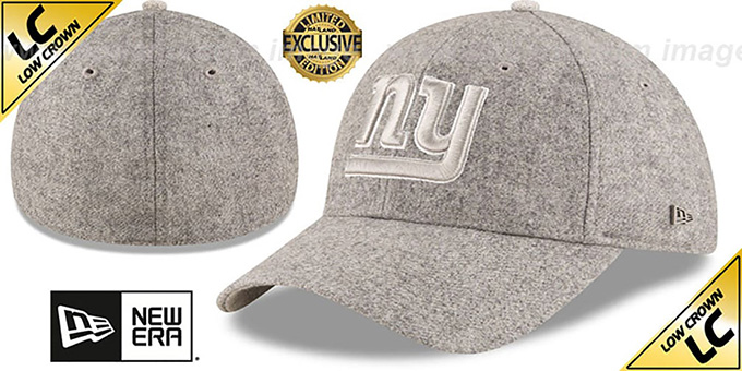 NY Giants 'EK MELTON FABRIC MIX' Grey Hat by New Era : pictured without stickers that these products are shipped with
