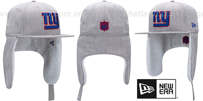 NY Giants 'HEATHER-DOGEAR' Light Grey Fitted Hat by New Era