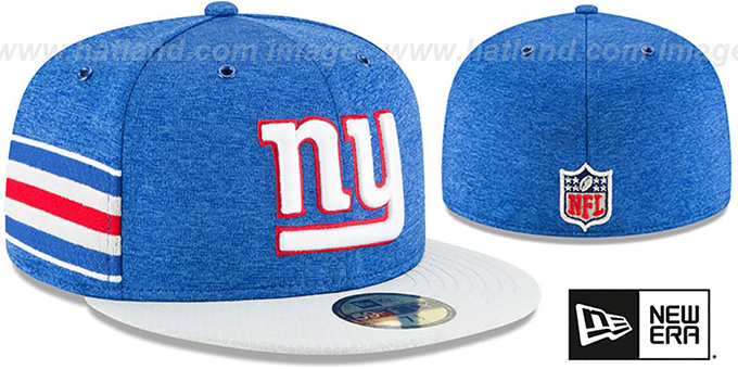 NY Giants 'HOME ONFIELD STADIUM' Royal-Grey Fitted Hat by New Era