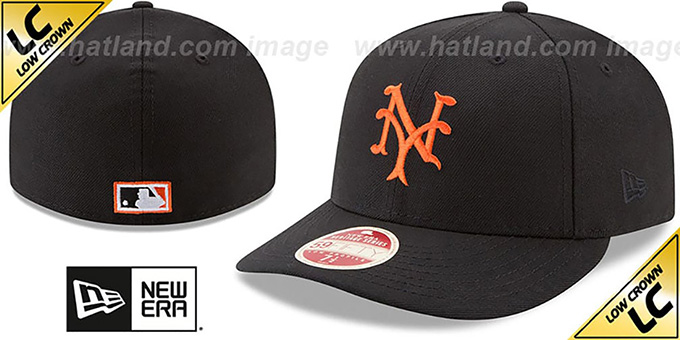 NY Giants 'LOW-CROWN VINTAGE' Fitted Hat by New Era : pictured without stickers that these products are shipped with