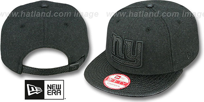NY Giants 'MELTON STINGER STRAPBACK' Hat by New Era : pictured without stickers that these products are shipped with