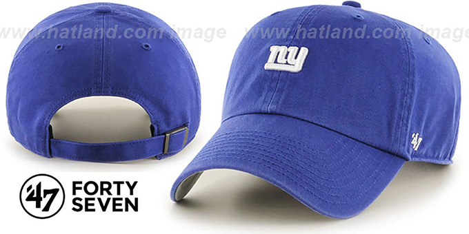 NY Giants 'POLO STRAPBACK' Royal Hat by Twins 47 Brand : pictured without stickers that these products are shipped with