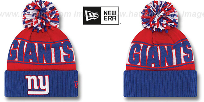 NY Giants 'REP-UR-TEAM' Knit Beanie Hat by New Era : pictured without stickers that these products are shipped with