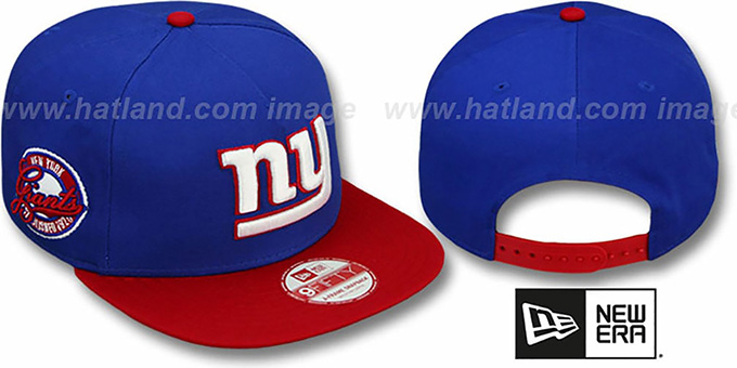 NY Giants 'SAID SNAPBACK' Royal-Blue Hat by New Era : pictured without stickers that these products are shipped with