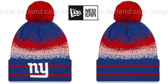 NY Giants 'SPEC-BLEND' Knit Beanie Hat by New Era : pictured without stickers that these products are shipped with