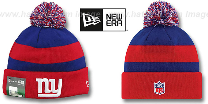 NY Giants 'STADIUM' Knit Beanie Hat by New Era : pictured without stickers that these products are shipped with