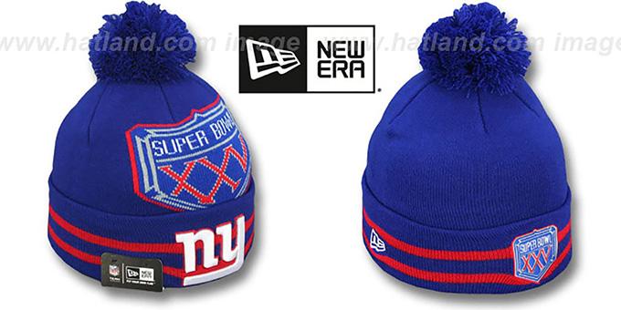 f3bd0168148 NY Giants  SUPER BOWL XXV  Royal Knit Beanie Hat by New Era