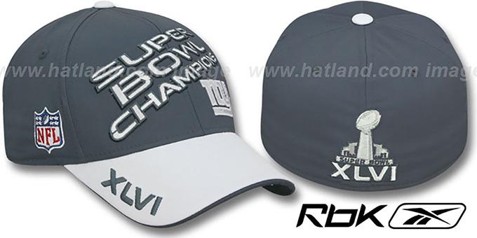 ab6e2412469 New York NY Giants SUPERBOWL XLVI CHAMPS Hat by Reebok