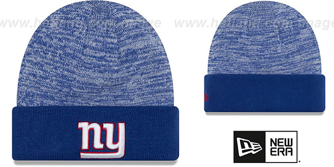 NY Giants  TEAM-RAPID  Royal-White Knit Beanie Hat by New Era 409789866