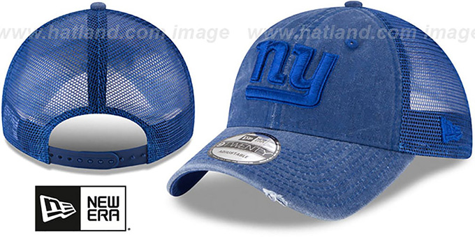 18f86313 NY Giants 'TONAL-WASHED TRUCKER SNAPBACK' Royal Hat by ...